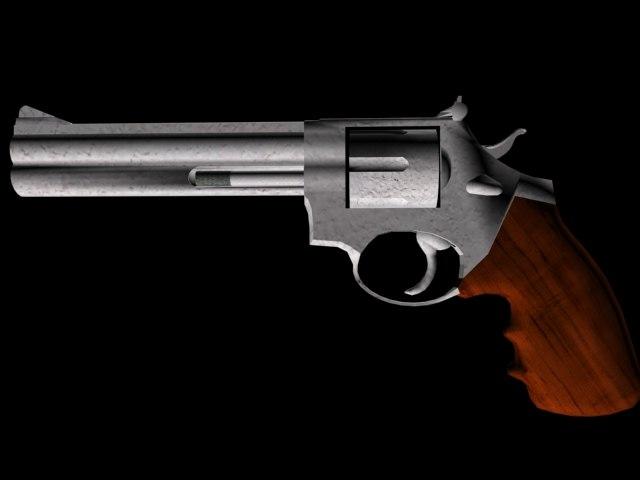 free revolver 357 magnum 3d model