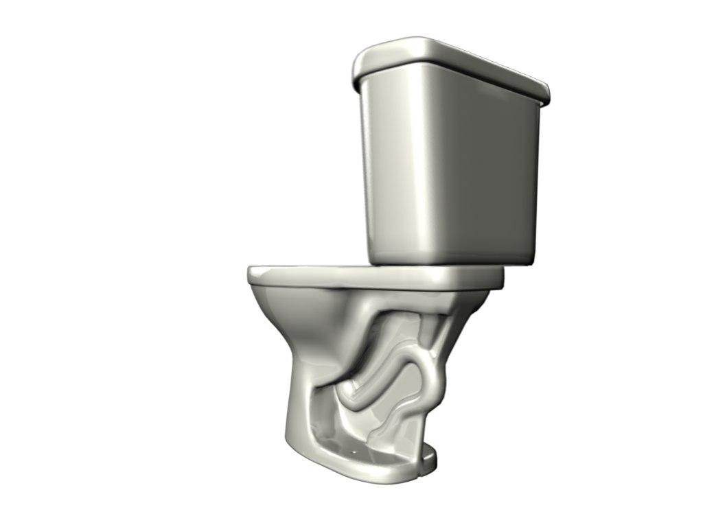toilet mexican 3d model