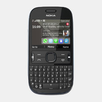 nokia asha 302 mobile phone 3d 3ds