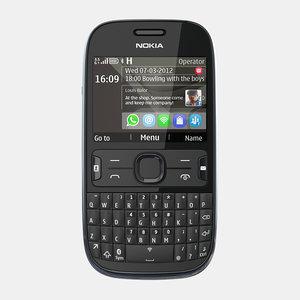 3d nokia asha 302 mobile phone model