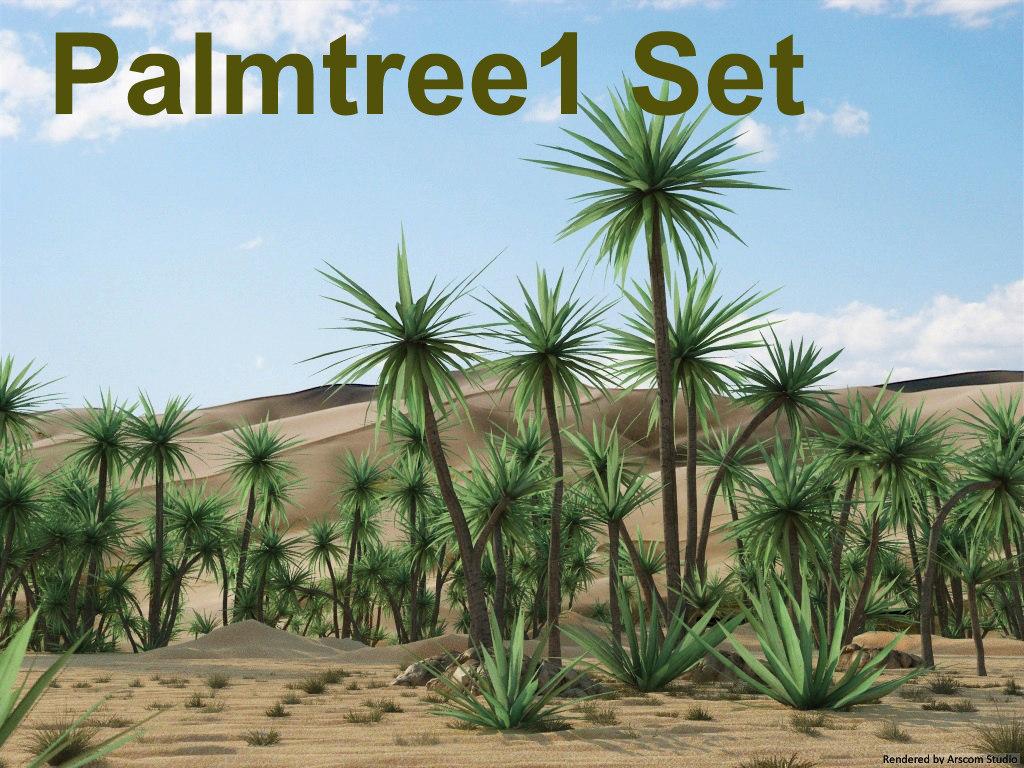 palmtree 1 set 3d 3ds