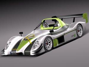 radical sr8 race car 3d model
