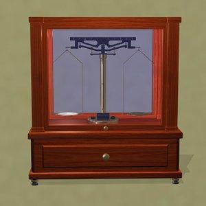 antique balance beam scale 3ds