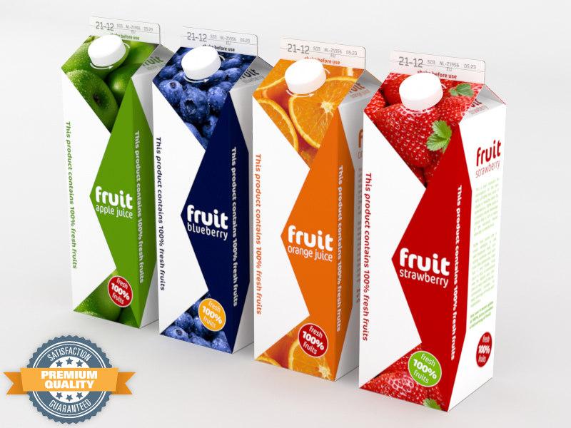 fruit carton 4 3d model