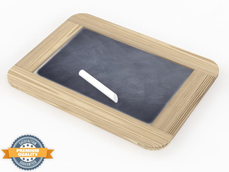 3ds slate blackboard chalk