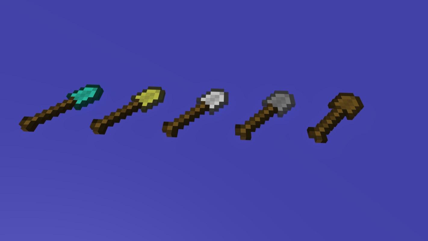 3d shovel minecraft