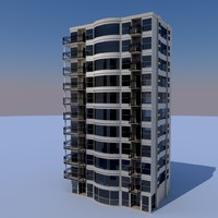 3d studio apartment model