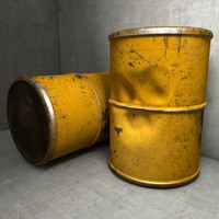 Iron Waste Barrel