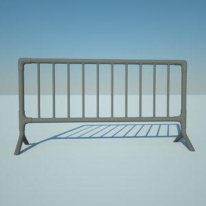 metal barrier 3ds