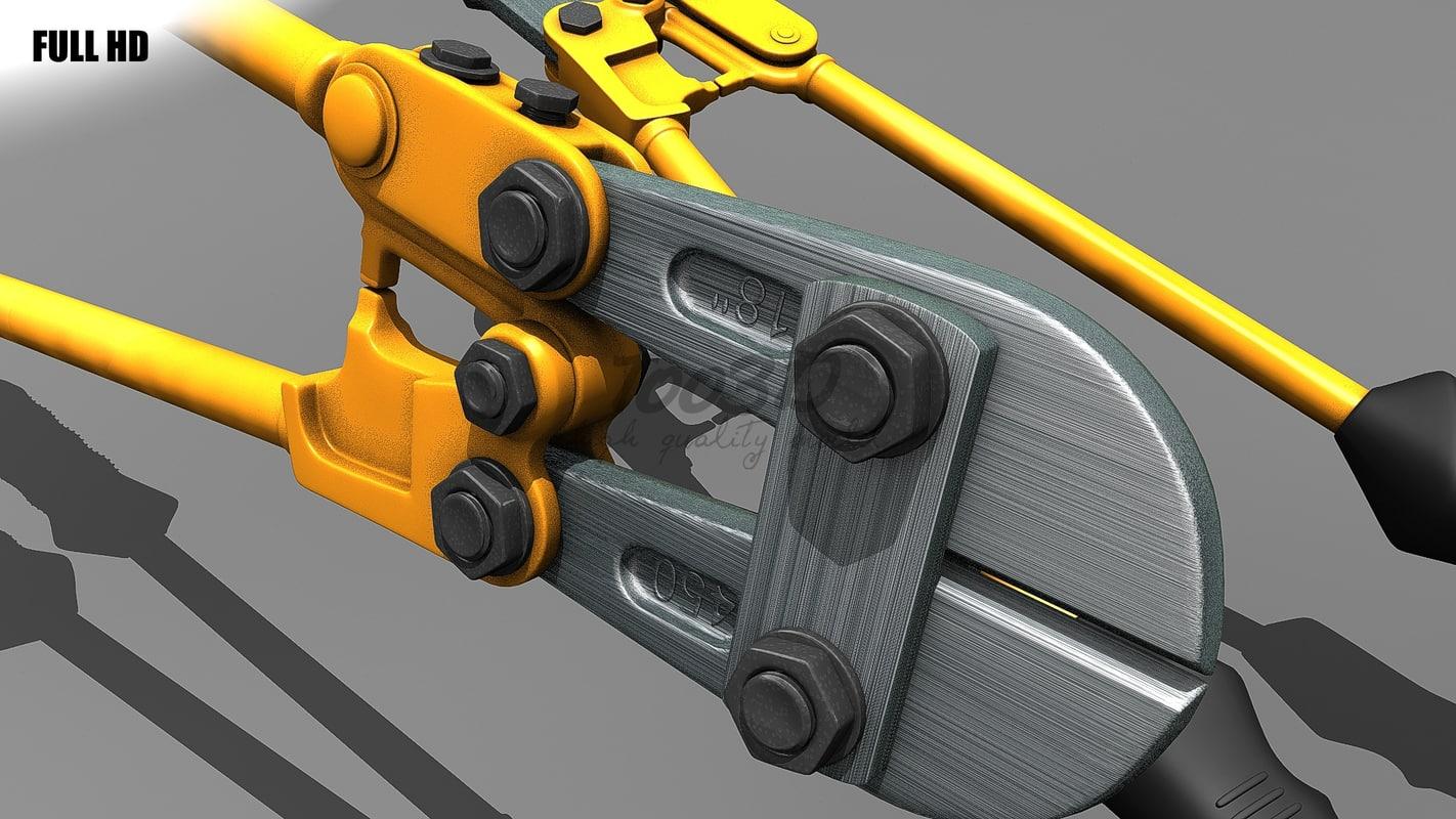 3d model bolt cutter