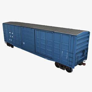 3d freight boxcar