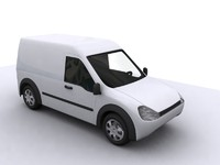 3d model of connect van car auto