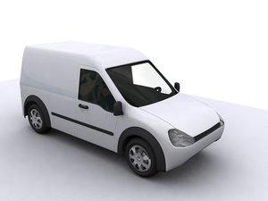 3d model of connect van car auto