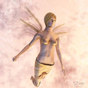 rigged fairy 3d obj