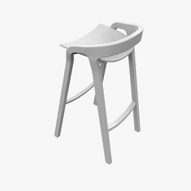 max chair bar stool mattiazzi