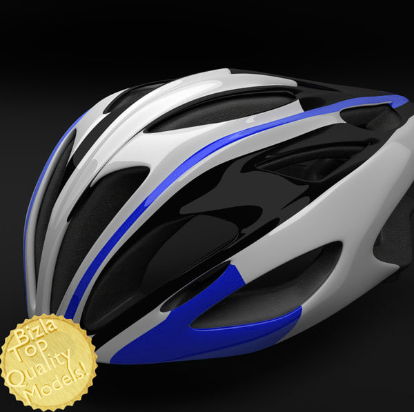 3ds max bell alcherra racing bike helmet
