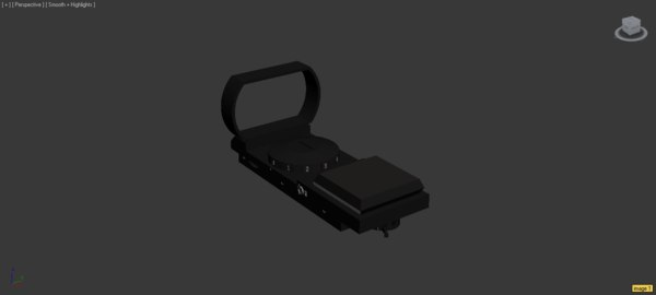 free 3ds model simple red dot sight