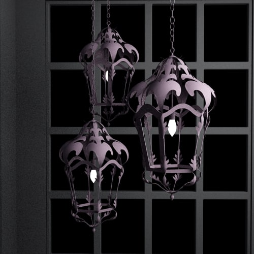 3d hanging lanters