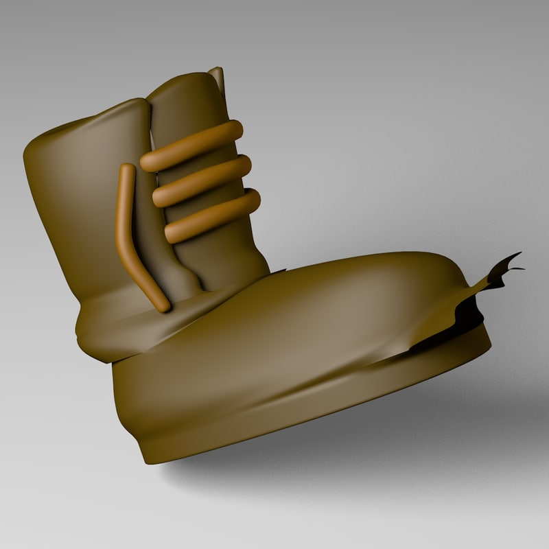 old boot 3d model