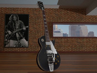 3d model neil old black gibson les