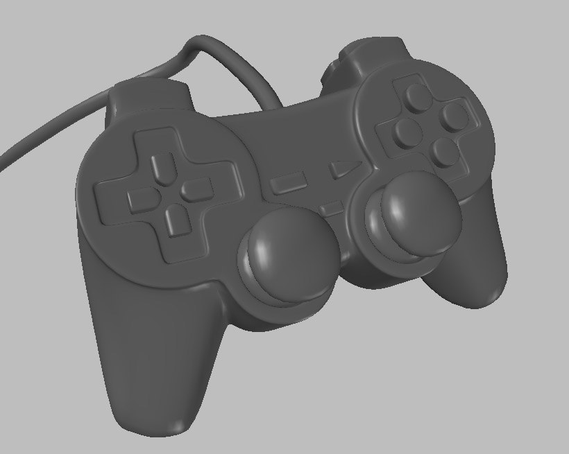 3d obj playstation controller