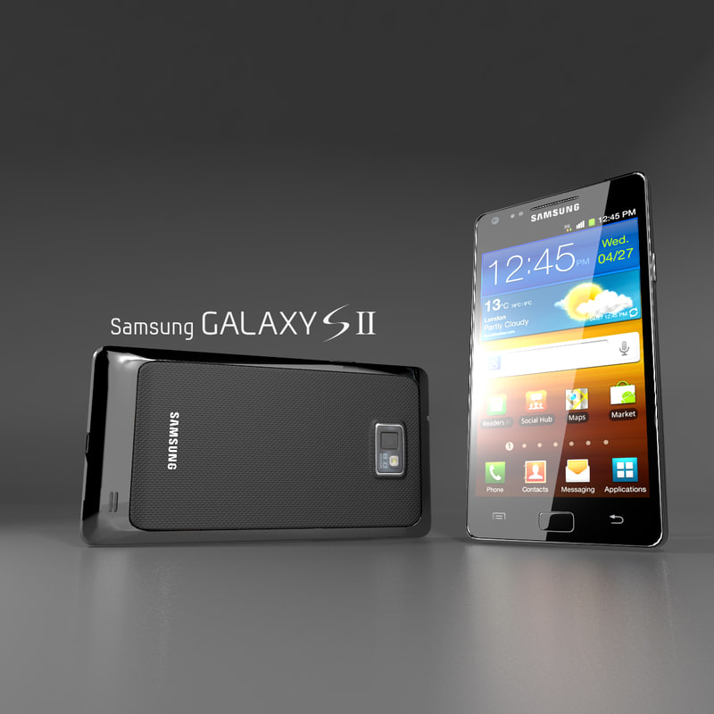 3d samsung galaxy s2 model