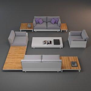 3d outdoor furniture 2