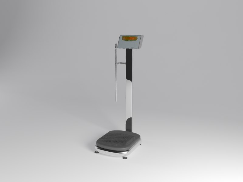 3d weighing machine model