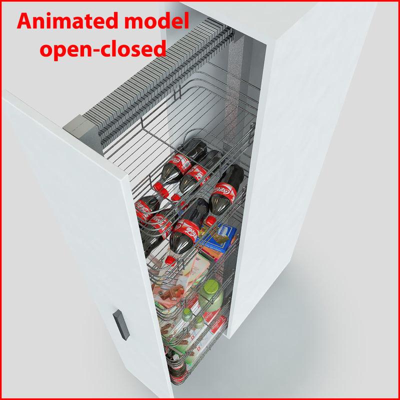kitchen slider cabinet storages max