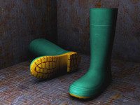 low-poly rubber boots 3ds