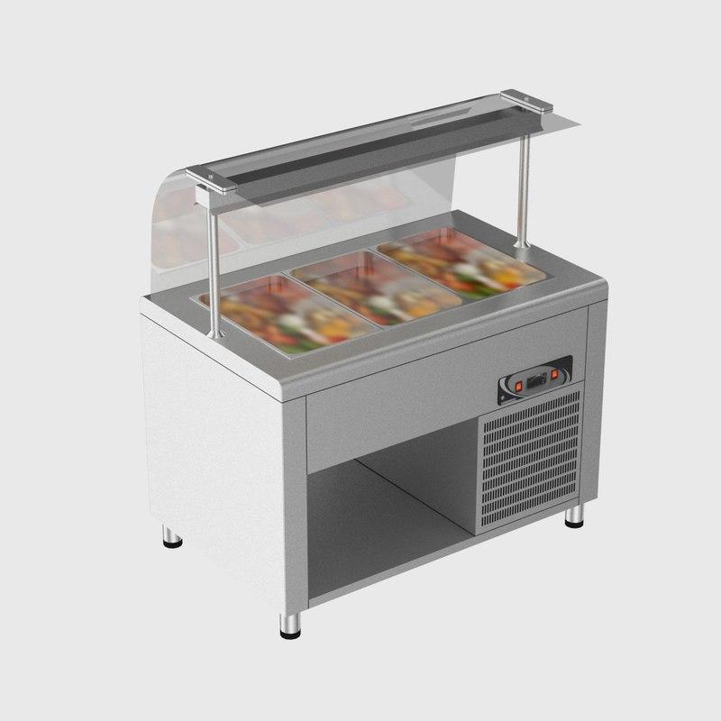 3d model salad bar 1 for Food bar 3d model