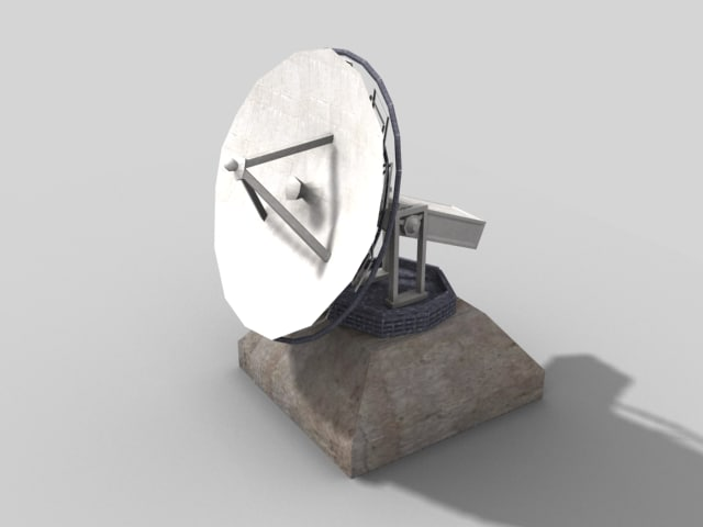 satellite dish prop 3d model