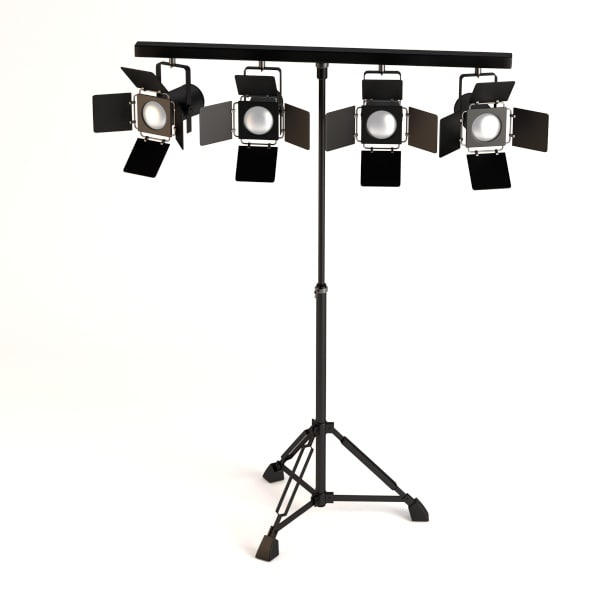 3d stage light model