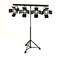 3d stage light model