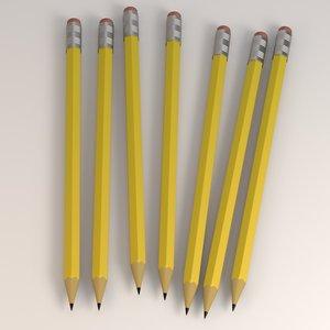 3d pencil eraser