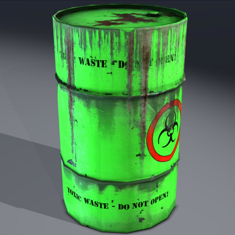 industrial barrel toxic hazardous fbx