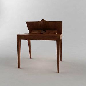 3d model of modern wooden stylish