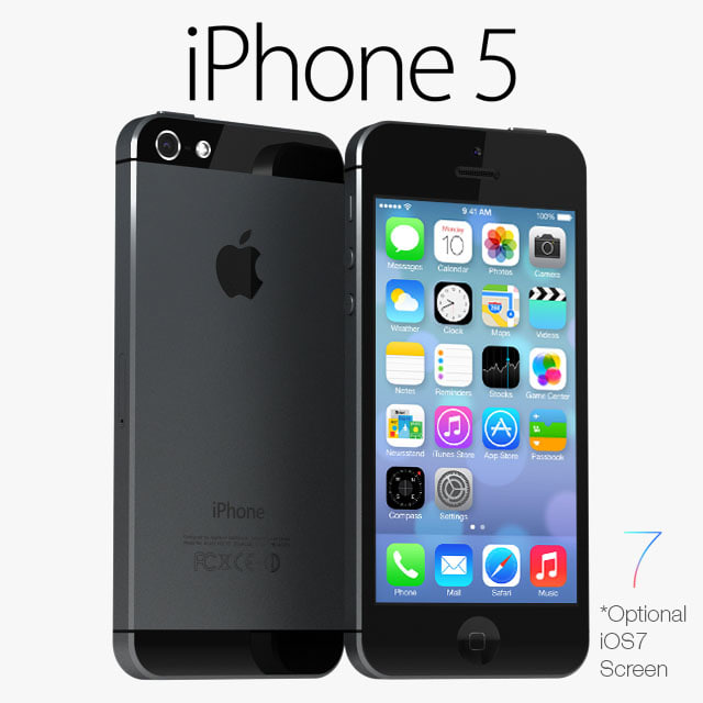 apple iphone 5 black obj