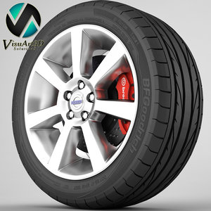 s60 rim tyre 3d model