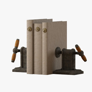 3ds max vise bookends books