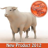 3d bull modeled