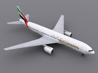 3d model aircraft emirates