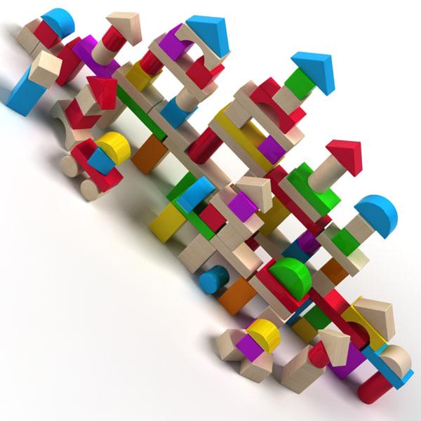 block wood 3d model