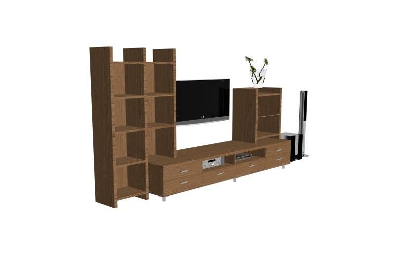tv rack 3d max