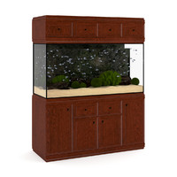 3d model aquarium cabinet