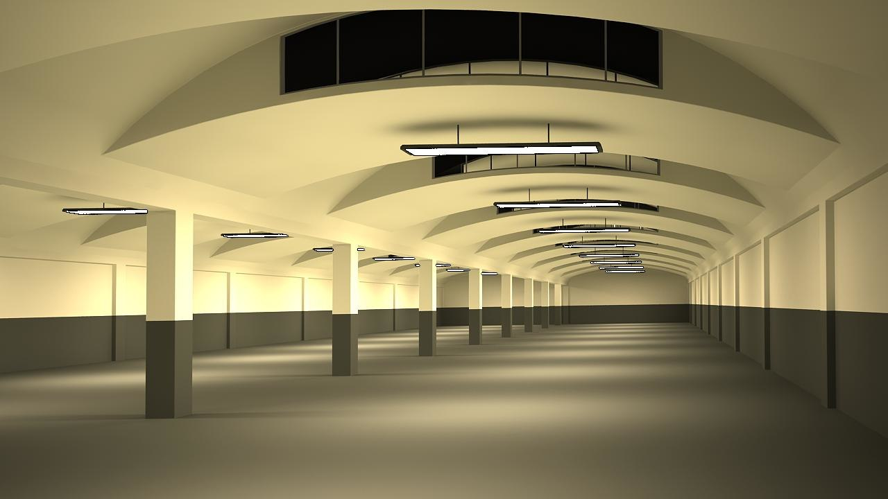 factory hall 3d 3ds