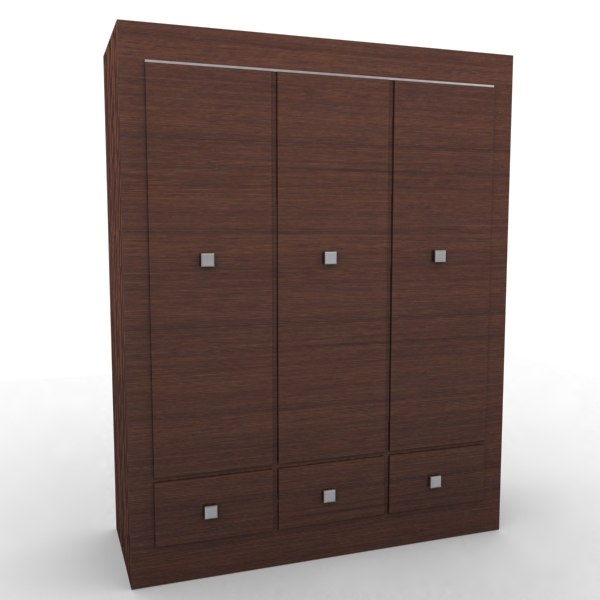 3d max wardrobe bedroom living