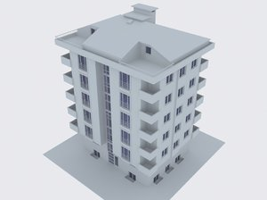 3ds max apartment building modeled