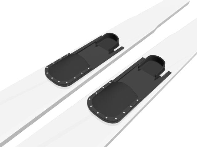 snowboard skis 3d max
