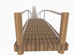 hanging bridge 3d 3ds